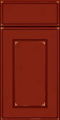 Square Raised Panel - Solid (AB1C) Cherry in Vintage Cardinal - Base