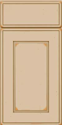 Square Raised Panel - Solid (AB1C) Cherry in Vintage Mushroom - Base