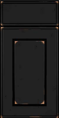 Square Raised Panel - Solid (AB1C) Cherry in Vintage Onyx - Base