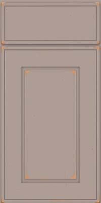 Square Raised Panel - Solid (AB1C) Cherry in Vintage Pebble Grey - Base