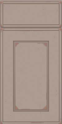 Square Raised Panel - Solid (AB1C) Cherry in Vintage Pebble Grey w/ Cocoa Patina - Base