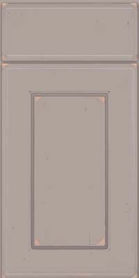 Square Raised Panel - Solid (AB1C) Cherry in Vintage Pebble Grey w/ Coconut Patina - Base