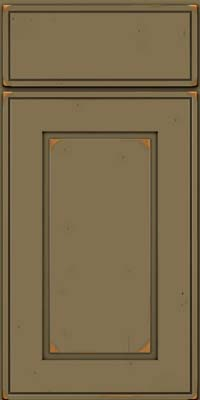 Square Raised Panel - Solid (AB1C) Cherry in Vintage Sage - Base