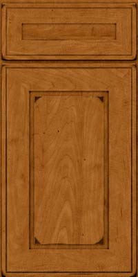 Square Raised Panel - Solid (AB1M) Maple in Burnished Golden Lager - Base