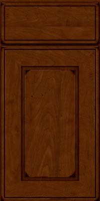 Square Raised Panel - Solid (AB1M) Maple in Burnished Chestnut - Base