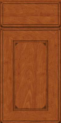 Square Raised Panel - Solid (AB1M) Maple in Burnished Cinnamon - Base