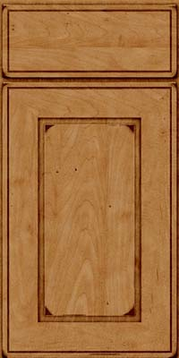 Square Raised Panel - Solid (AB1M) Maple in Burnished Ginger - Base