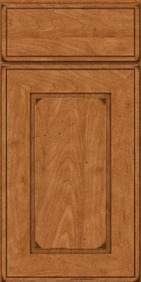 Square Raised Panel - Solid (AB1M) Maple in Burnished Praline - Base