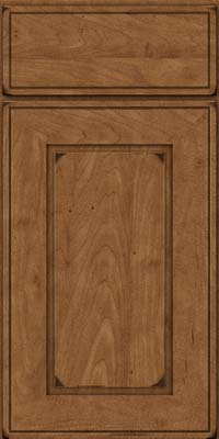 Square Raised Panel - Solid (AB1M) Maple in Burnished Rye - Base