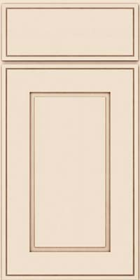 Square Raised Panel - Solid (AB1M) Maple in Canvas w/Cocoa Glaze - Base