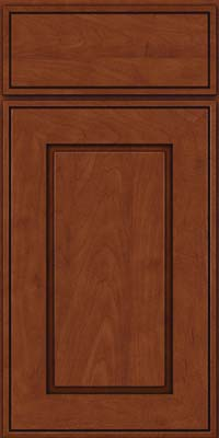 Square Raised Panel - Solid (AB1M) Maple in Chestnut w/Onyx Glaze - Base