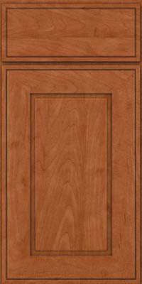 Square Raised Panel - Solid (AB1M) Maple in Cinnamon - Base