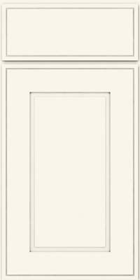 Square Raised Panel - Solid (AB1M) Maple in Dove White - Base