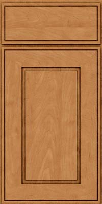 Square Raised Panel - Solid (AB1M) Maple in Ginger w/Sable Glaze - Base