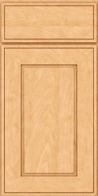 Square Raised Panel - Solid (AB1M) Maple in Honey Spice - Base