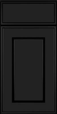 Square Raised Panel - Solid (AB1M) Maple in Onyx - Base