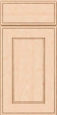 Square Raised Panel - Solid (AB1M) Maple in Parchment - Base