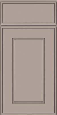 Square Raised Panel - Solid (AB1M) Maple in Pebble Grey - Base