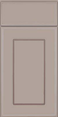 Square Raised Panel - Solid (AB1M) Maple in Pebble Grey w/ Coconut Glaze - Base