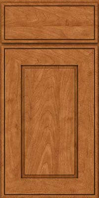 Square Raised Panel - Solid (AB1M) Maple in Praline w/Mocha Highlight - Base