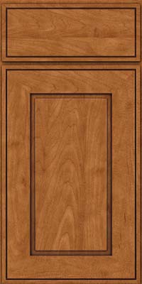Square Raised Panel - Solid (AB1M) Maple in Praline w/Onyx Glaze - Base