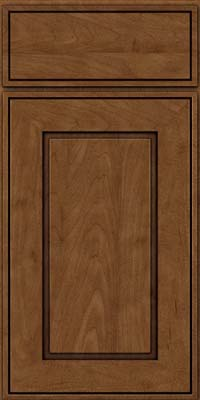 Square Raised Panel - Solid (AB1M) Maple in Rye w/Onyx Glaze - Base