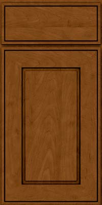 Square Raised Panel - Solid (AB1M) Maple in Rye w/Sable Glaze - Base
