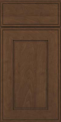 Square Raised Panel - Solid (AB1M) Maple in Saddle Suede - Base