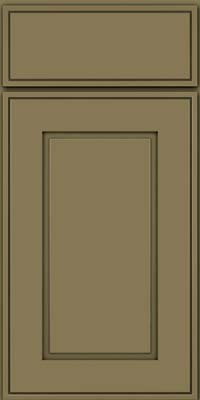 Square Raised Panel - Solid (AB1M) Maple in Sage - Base