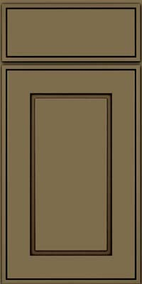 Square Raised Panel - Solid (AB1M) Maple in Sage w/Cocoa Glaze - Base