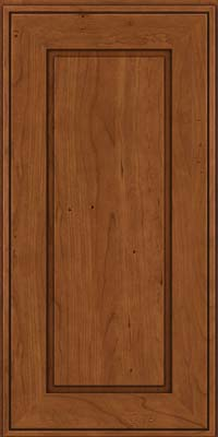 Square Raised Panel - Solid (AB1C) Cherry in Antique Chocolate w/Mocha Glaze - Wall