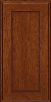 Square Raised Panel - Solid (AB1C) Cherry in Autumn Blush - Wall