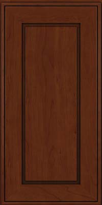 Square Raised Panel - Solid (AB1C) Cherry in Autumn Blush w/Onyx Glaze - Wall