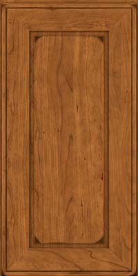 Square Raised Panel - Solid (AB1C) Cherry in Burnished Golden Lager - Wall