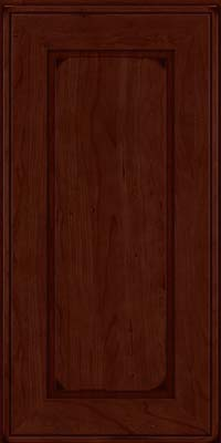 Square Raised Panel - Solid (AB1C) Cherry in Burnished Cabernet - Wall