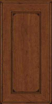 Square Raised Panel - Solid (AB1C) Cherry in Burnished Chocolate - Wall