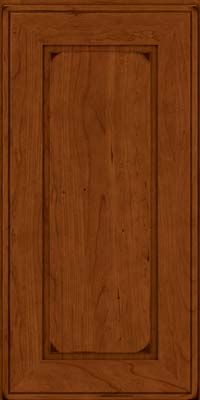 Square Raised Panel - Solid (AB1C) Cherry in Burnished Cinnamon - Wall