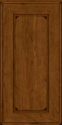 Square Raised Panel - Solid (AB1C) Cherry in Burnished Ginger - Wall