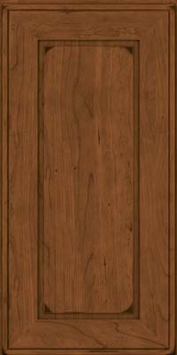 Square Raised Panel - Solid (AB1C) Cherry in Burnished Rye - Wall