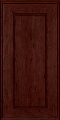 Square Raised Panel - Solid (AB1C) Cherry in Cabernet - Wall