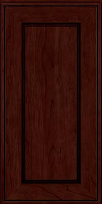 Square Raised Panel - Solid (AB1C) Cherry in Cabernet w/Onyx Glaze - Wall