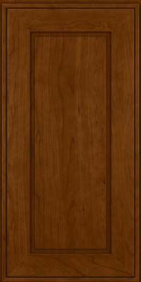 Square Raised Panel - Solid (AB1C) Cherry in Chocolate - Wall