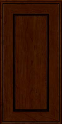 Square Raised Panel - Solid (AB1C) Cherry in Chocolate w/Ebony Glaze - Wall