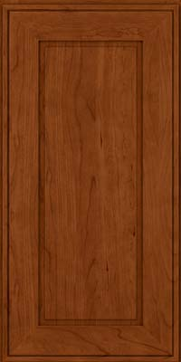Square Raised Panel - Solid (AB1C) Cherry in Cinnamon - Wall