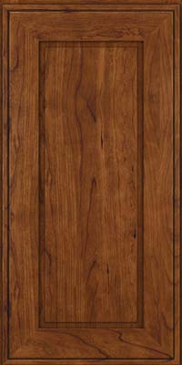 Square Raised Panel - Solid (AB1C) Cherry in Cognac - Wall