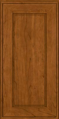 Square Raised Panel - Solid (AB1C) Cherry in Golden Lager - Wall