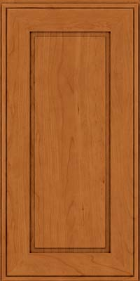 Square Raised Panel - Solid (AB1C) Cherry in Honey Spice - Wall
