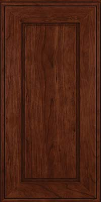 Square Raised Panel - Solid (AB1C) Cherry in Kaffe - Wall