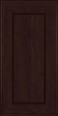 Square Raised Panel - Solid (AB1C) Cherry in Peppercorn - Wall