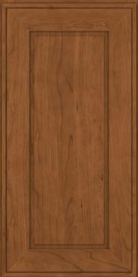 Square Raised Panel - Solid (AB1C) Cherry in Rye - Wall